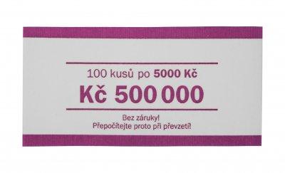 Papírová páska na bankovky nominál 5000 Kč