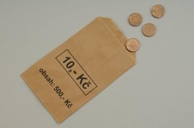 Sáček na mince - papírový