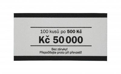 Papírová páska na bankovky nominál 500 Kč