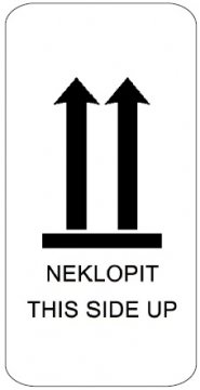 Samolepicí etiketa s nápisem NEKLOPIT 100x70 mm, 500 ks na roli