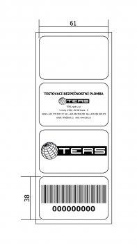 Samolepicí papírová etiketa
