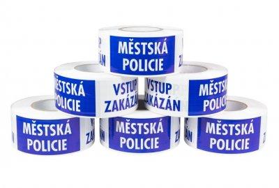 Ohraničovací páska s potiskem MĚSTSKÁ POLICIE