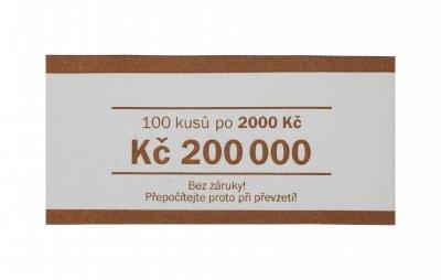 Papírová páska na bankovky nominál 2000 Kč