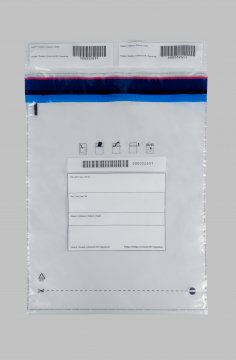 Bezpečnostní sáček, velký - (transparentní), 295x395 mm + 2x50 mm
