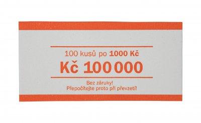 Papírová páska na bankovky nominál 1000 Kč