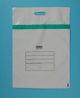 LDPE taška s bezpečnostní páskou