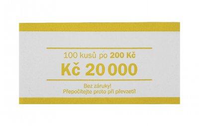 Papírová páska na bankovky nominál 200 Kč