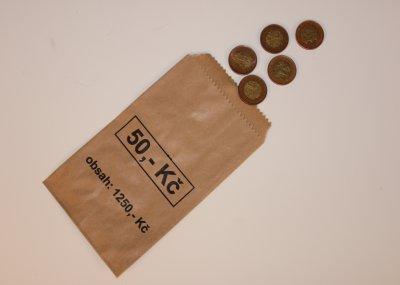 Papírový sáček 50 Kč