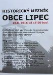 """Pozvanka na akci """"Historický milník obec Lipe"""""""