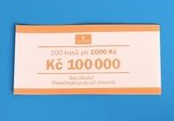 Bankovní páska - nominál 1000,-Kč