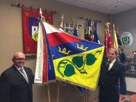 Převzetí vlajky v Alerionu - Brno