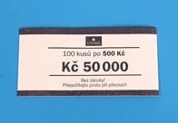 Bankovní páska - nominál 500,-Kč
