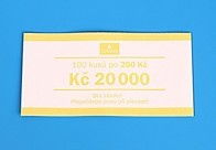 Bankovní páska - nominál 200,-Kč
