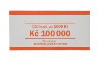 Papírová páska na CZK bankovky 1000 Kč