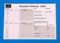 Vkladový doklad - EURO