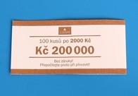 Bankovní páska - nominál 2000,-Kč
